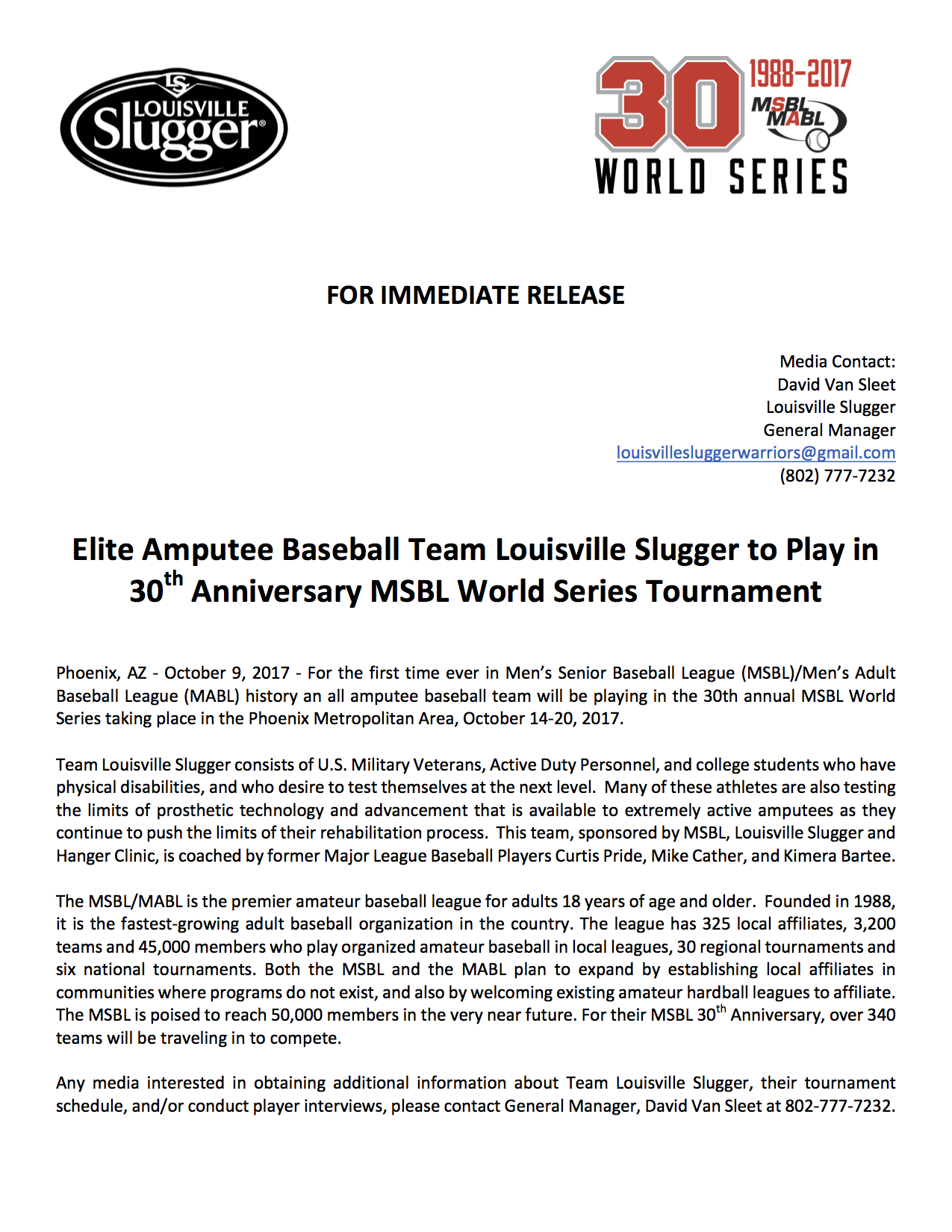 Elite-Amputee-Baseball-Team-Louisville-Slugger-to-Play-in-30th-Anniversary-MSBL-World-Series-Tournament